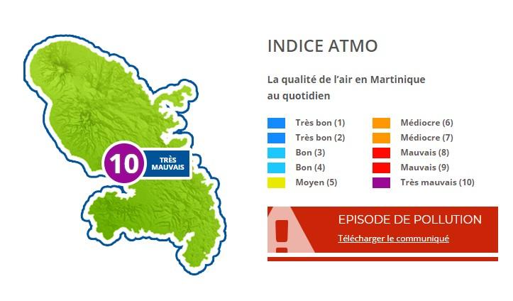 Pollution de l'air : l'indice ATMO de nouveau de 10 sur 10