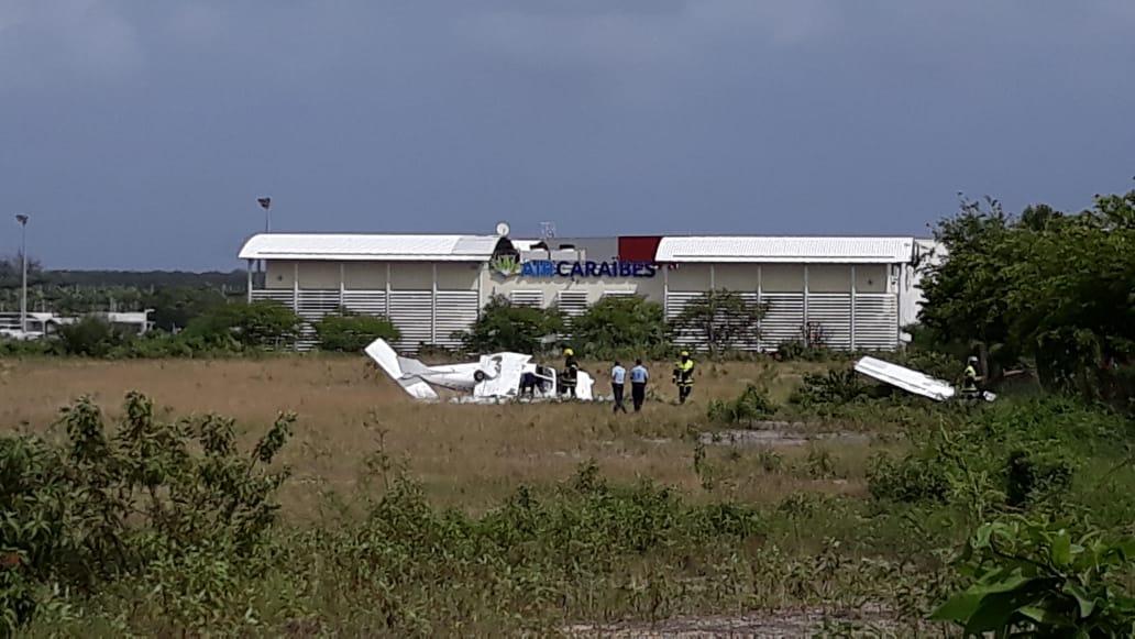 Un avion manque son décollage à Pôle Caraibe