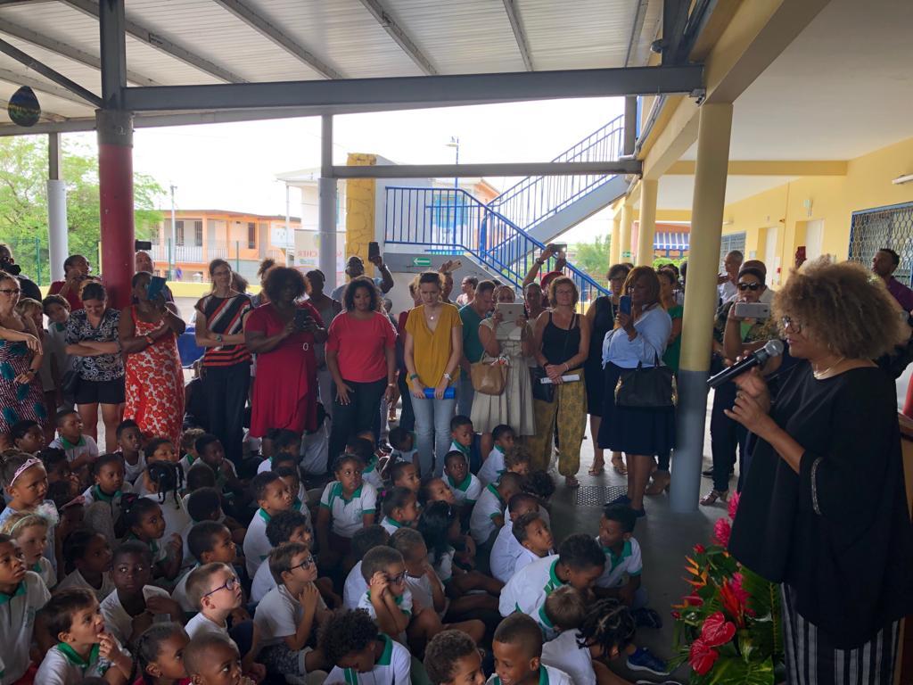 Jocelyne Béroard, c'est le nouveau nom d'une école primaire à Schoelcher