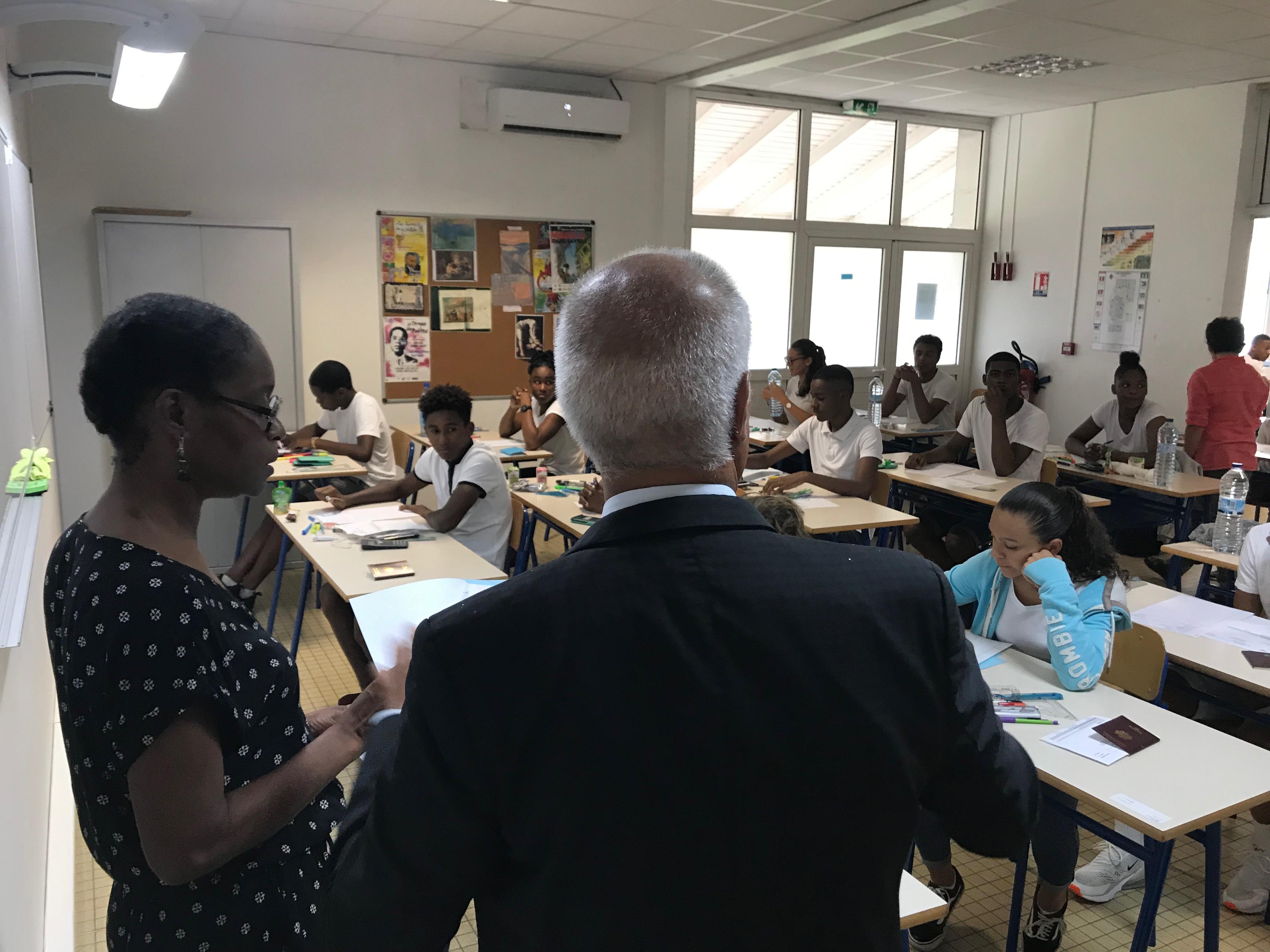 Le recteur donne le coup d'envoi du Diplôme national du Brevet au CREPS