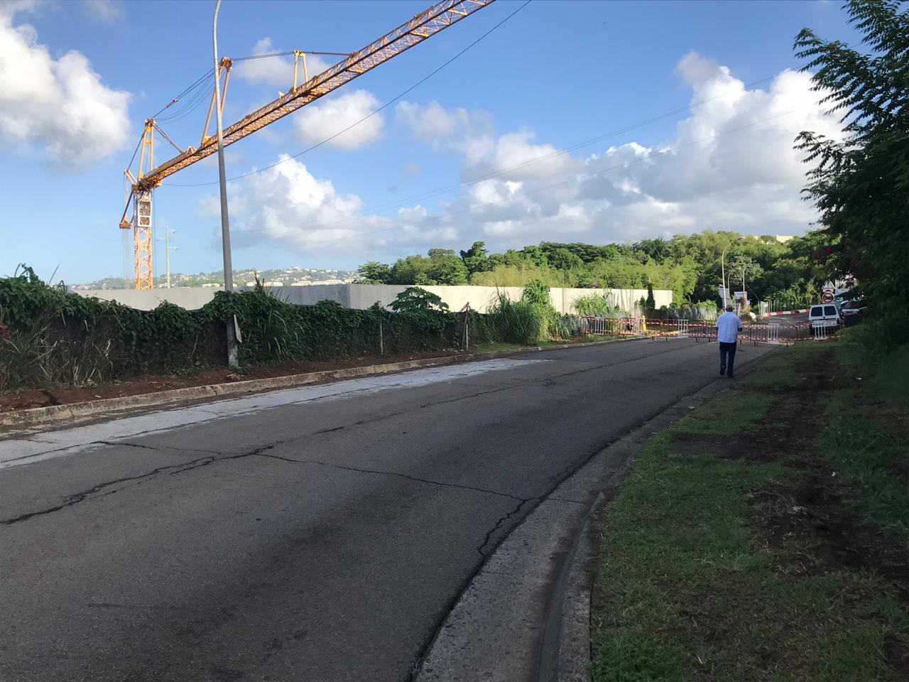 Une portion de la voie communautaire d'Acajou n'est plus praticable à cause d'un affaissement