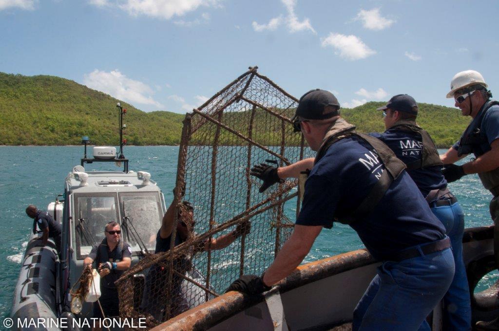25 nasses de pêche récupérées dans des zones contaminées au chlordécone