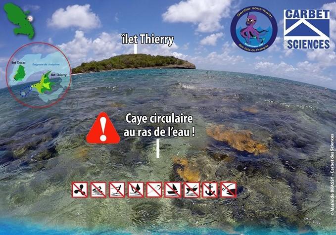Protection du Sentier sous-marin du François situé au large de l'îlet Thierry