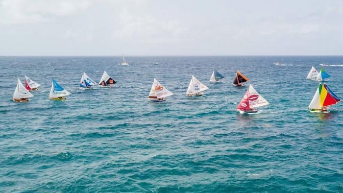 Traditour : les canots ont pris la mer vers Capesterre-Belle-Eau