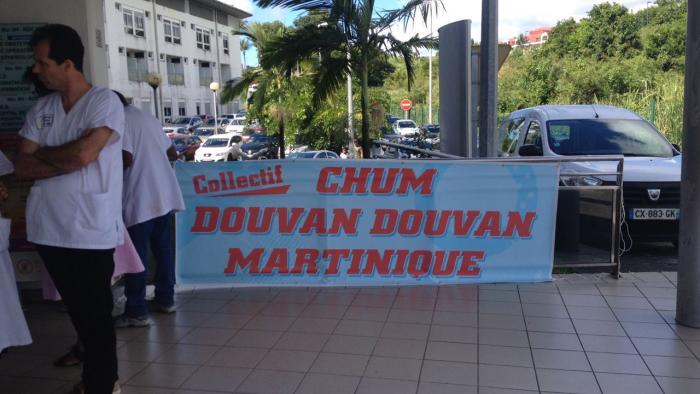 Le collectif CHUM Douvan Douvan et la CGTM solidaires du CHU de Guadeloupe