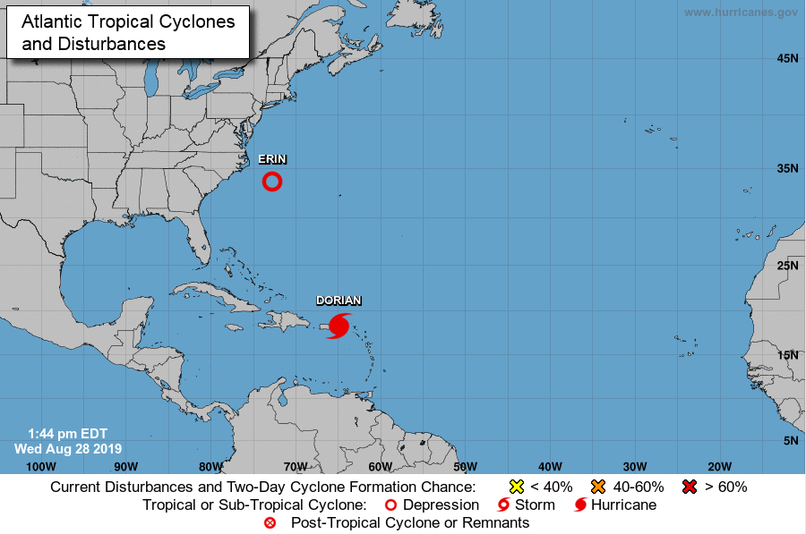 Dorian est devenu ouragan ce mercredi après-midi