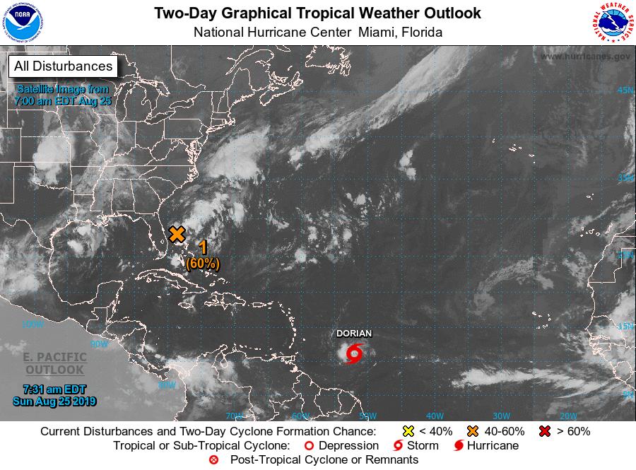La tempête tropicale Dorian poursuit sa route