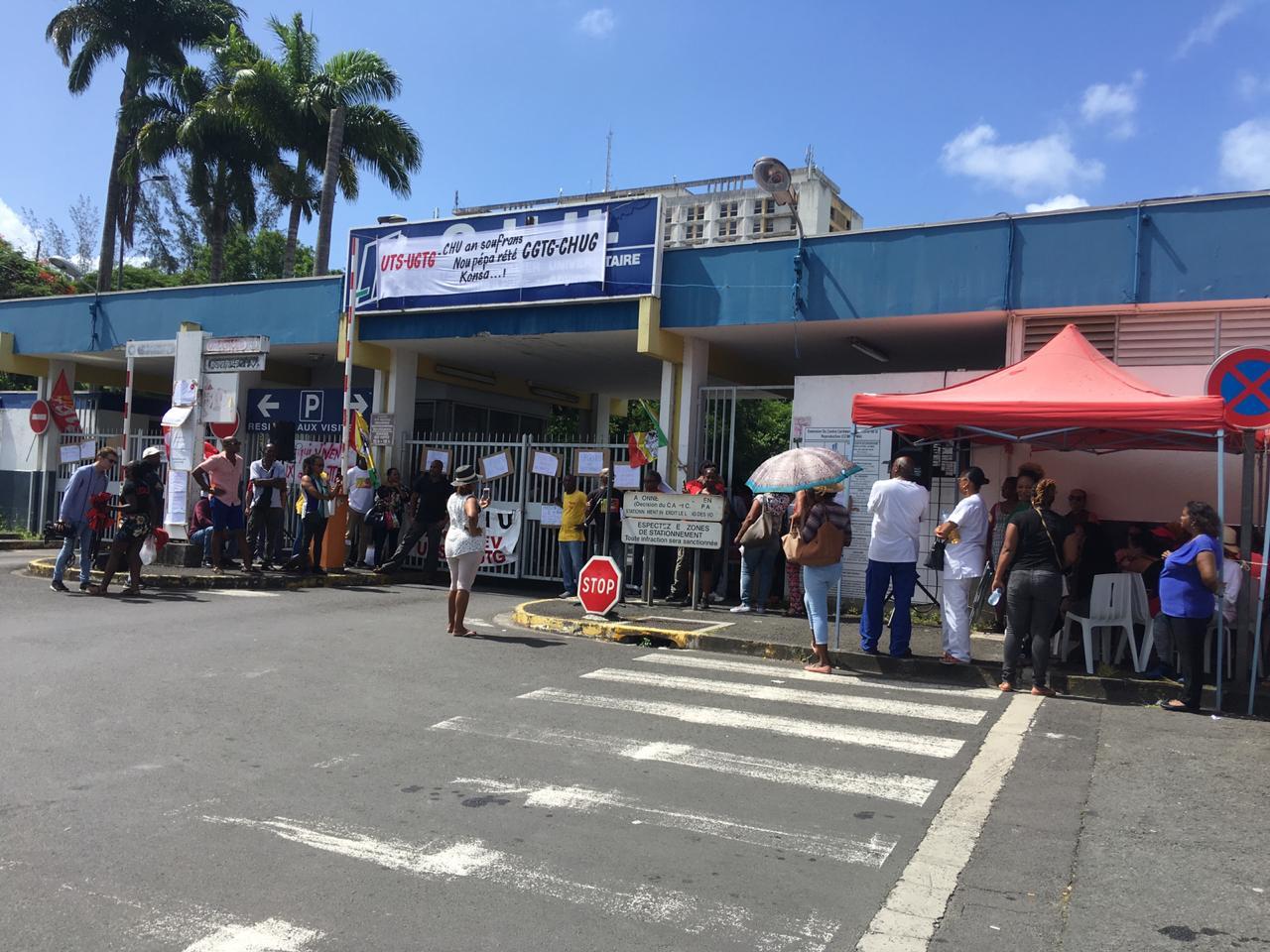 La CGTM Santé soutient la mobilisation des hospitaliers du CHU Pointe-à-Pitre-Abymes en Guadeloupe
