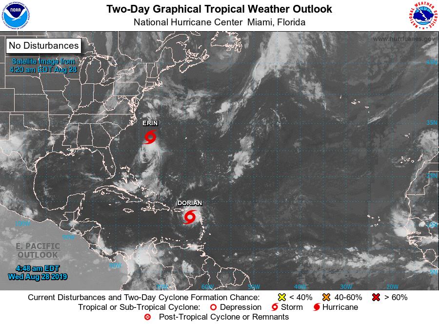 Tempête DORIAN : le phénomène poursuit sa route en mer des Caraïbes