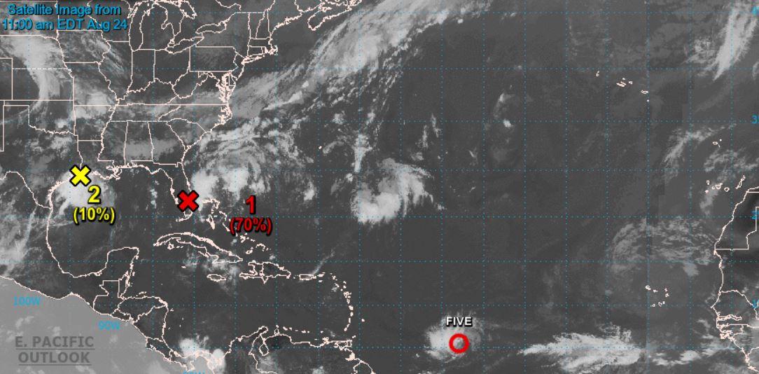 Naissance de la dépression tropicale n°5 à l'est des petites Antilles