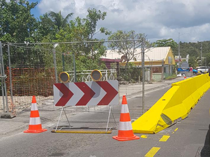 Réouverture de la route de Choisy au Gosier