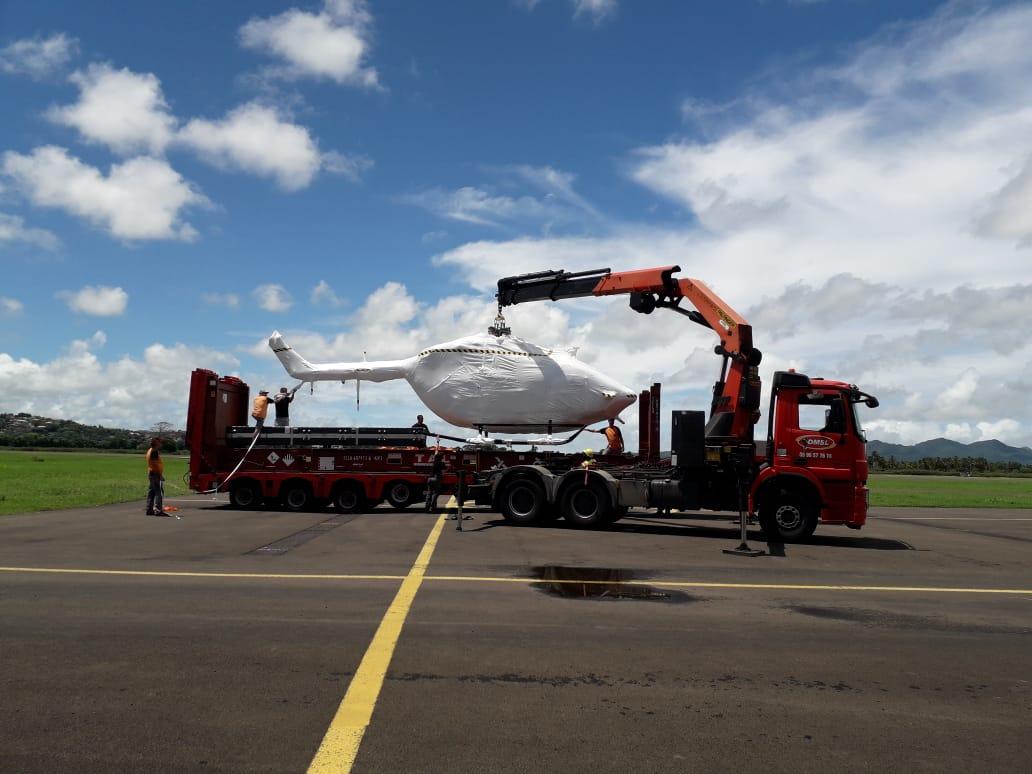 L'hélicoptère de remplacement du Dragon 972 est arrivé en Martinique