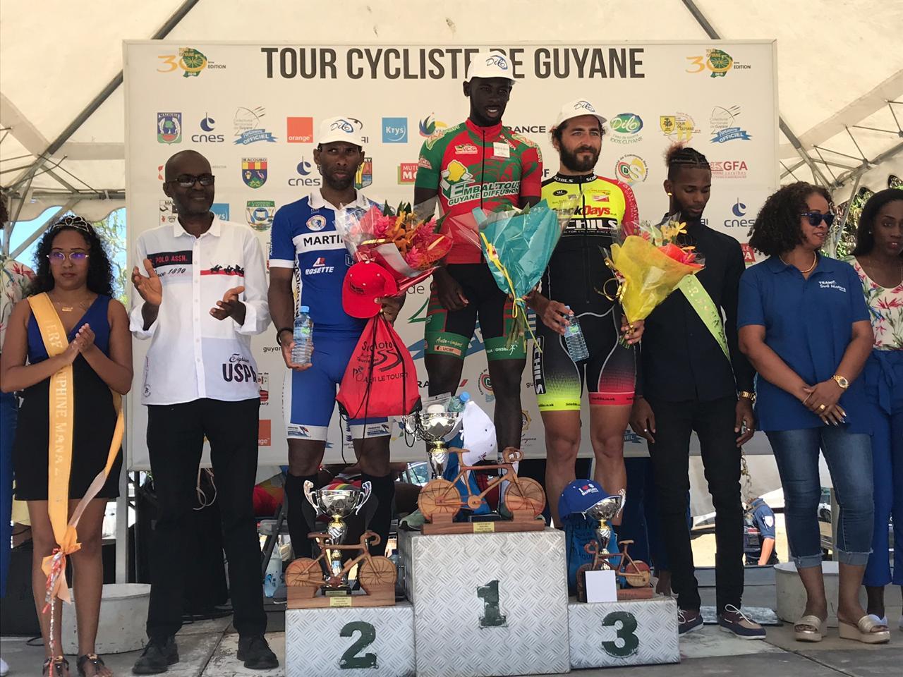 Tour de Guyane : belle deuxième place de Michaël Laurent lors de la quatrième étape