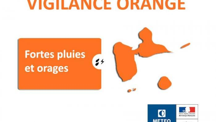 La vigilance orange maintenue en Guadeloupe ce mardi soir