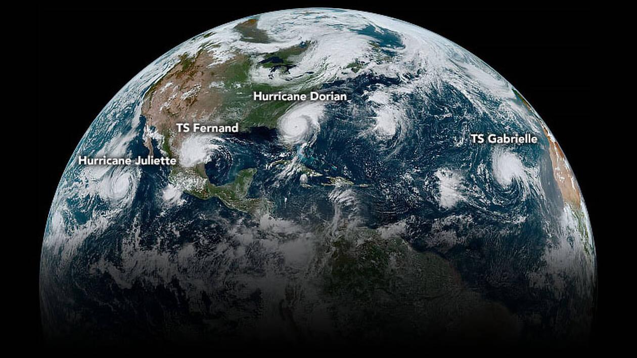 4 phénomènes majeurs sur l'hémisphère nord parfaitement illustrés par une incroyable photo de la NASA
