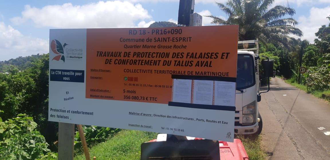 Des travaux de sécurisation réalisés sur la RD18