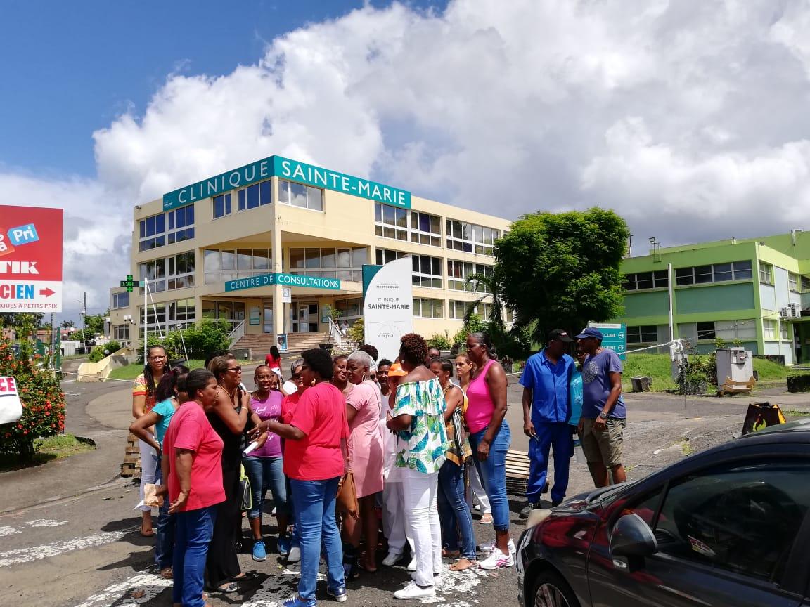 Le personnel de la Clinique Sainte-Marie de nouveau mobilisé