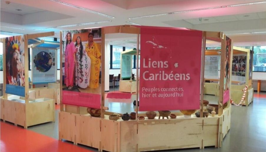 Exposition à la Bibliothèque Universitaire du campus de Schoelcher