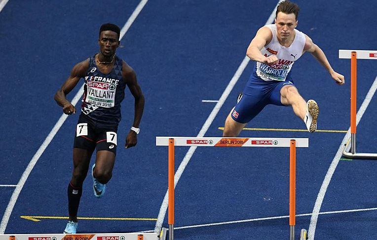 Ludvy Vaillant termine troisième du 400 m haies de The Match en Biélorussie