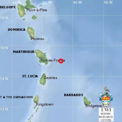 Séisme au large de la Martinique