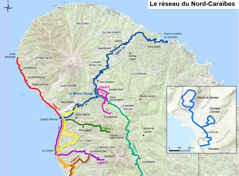 Le Nord Caraïbe a désormais un réseau de transport en commun optimisé