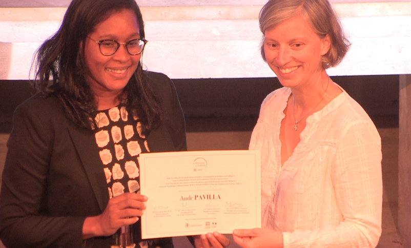 La chercheuse martiniquaise Aude Pavilla a été récompensée par la fondation L'Oréal et l'Unesco