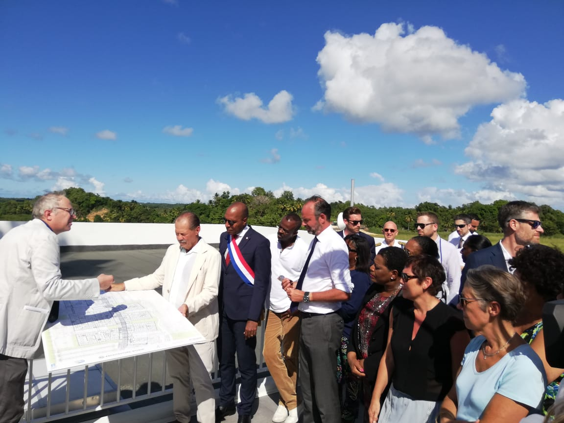 Edouard Philippe visite le chantier du futur CHU