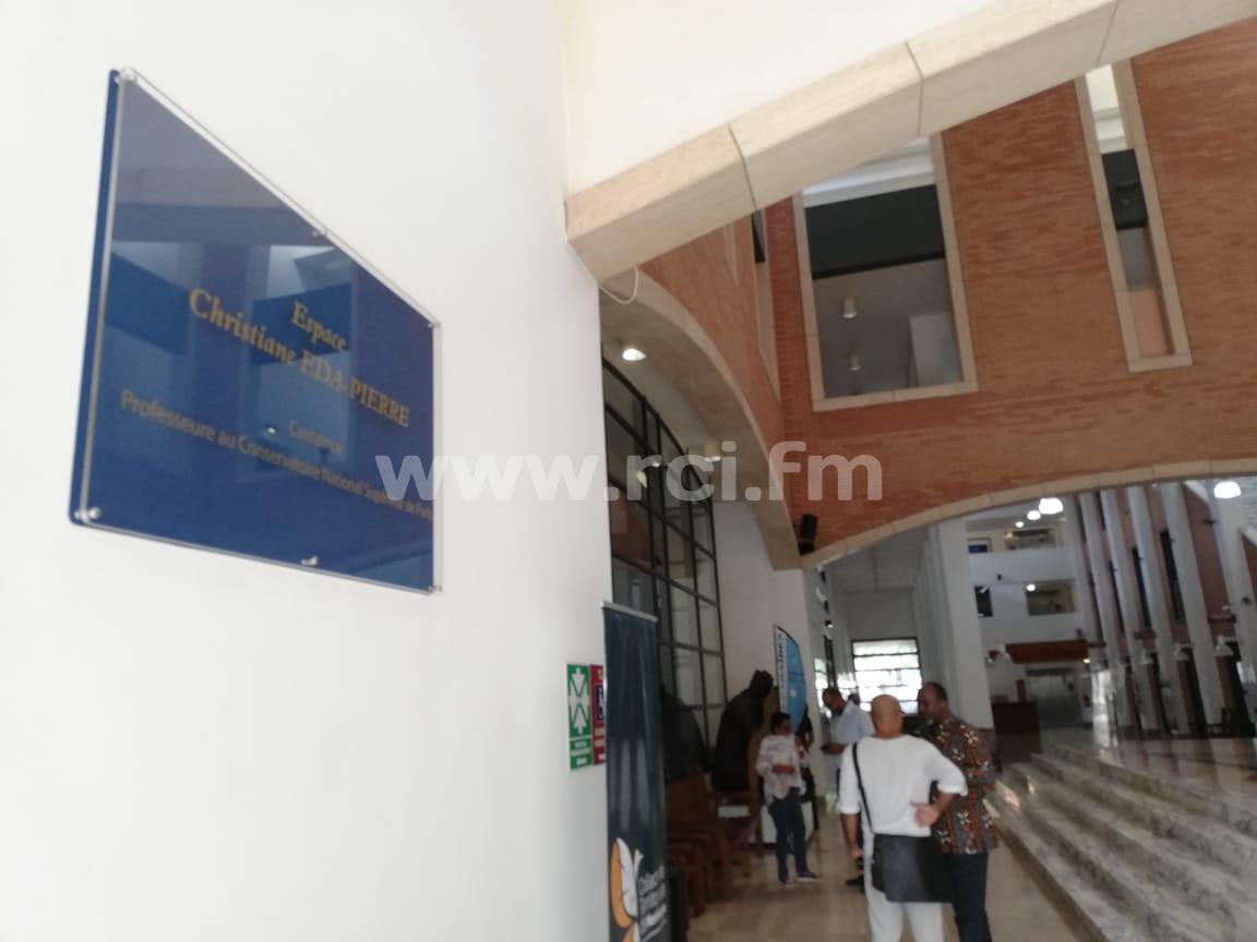 Le hall d'entrée de Tropiques Atrium baptisé Christiane Eda Pierre