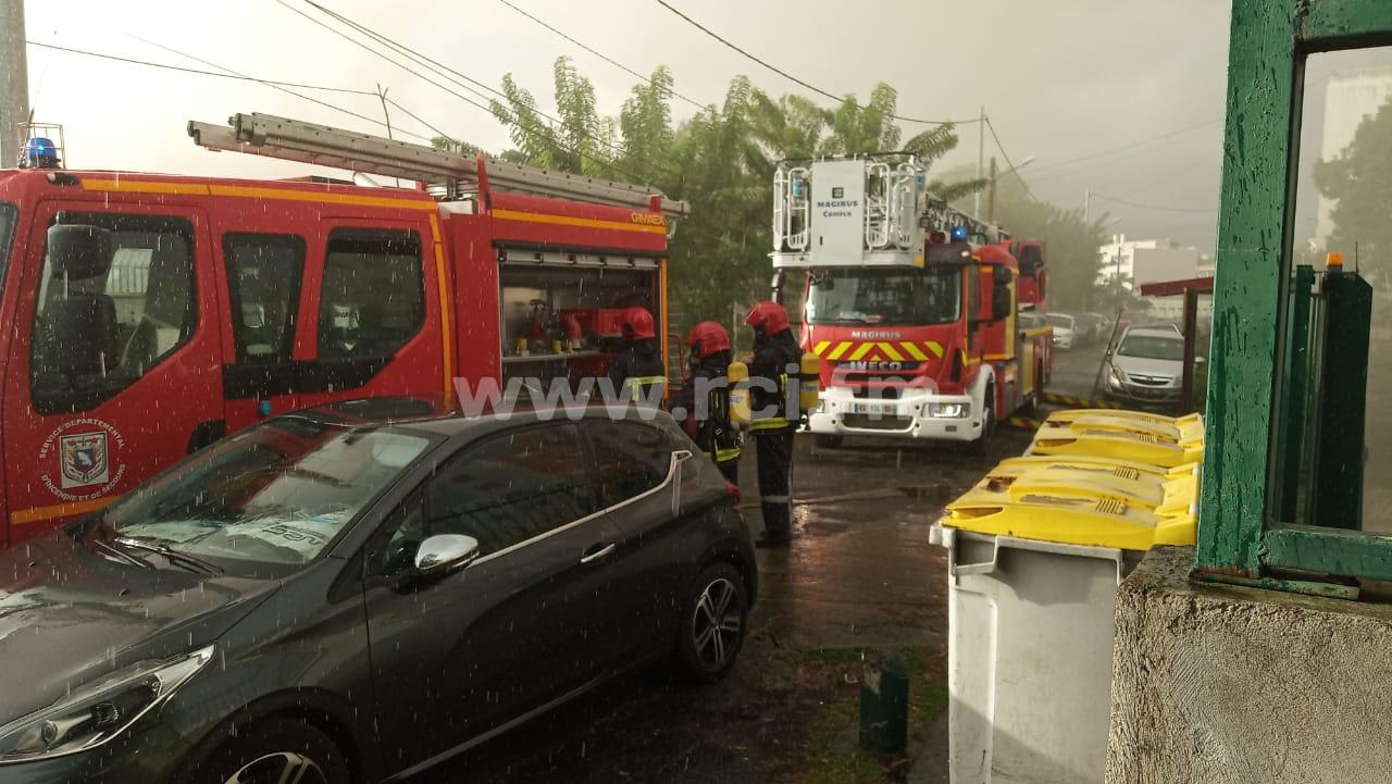 Début d'incendie dans un des anciens locaux de Martinique La 1ère à Clairière