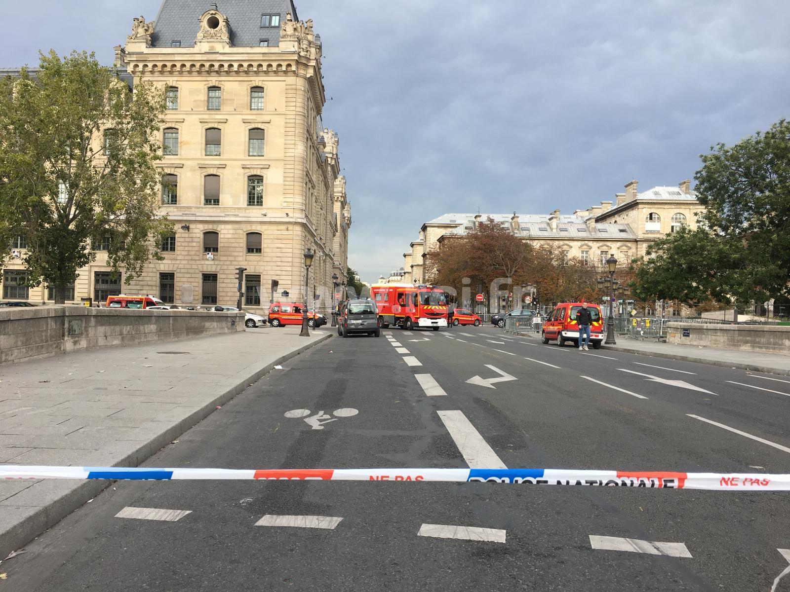 Vive émotion à la préfecture de police de Paris suite à la tuerie du 3 octobre 2019
