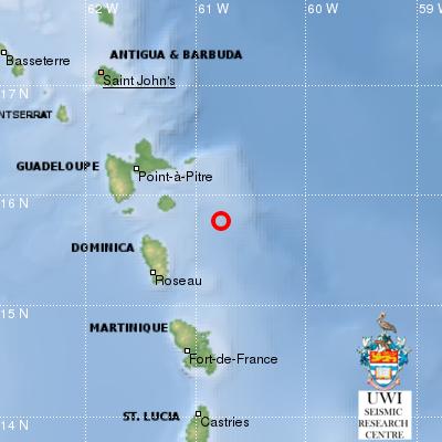 Tremblement de terre au large de Marie-Galante