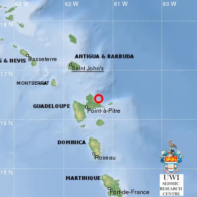 Un séisme dans la nuit en Guadeloupe