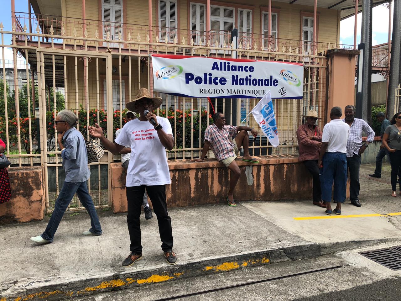 Mobilisation des policiers de Martinique