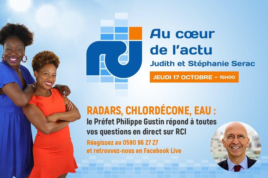 Retrouvez le Préfet de Région  en DIRECT  sur RCI Guadeloupe