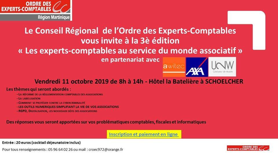 Un forum consacré au monde associatif organisé par l'ordre des experts comptables de Martinique
