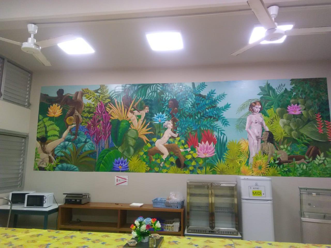 Une fresque érotique installée à l'internat du CHU qui divise