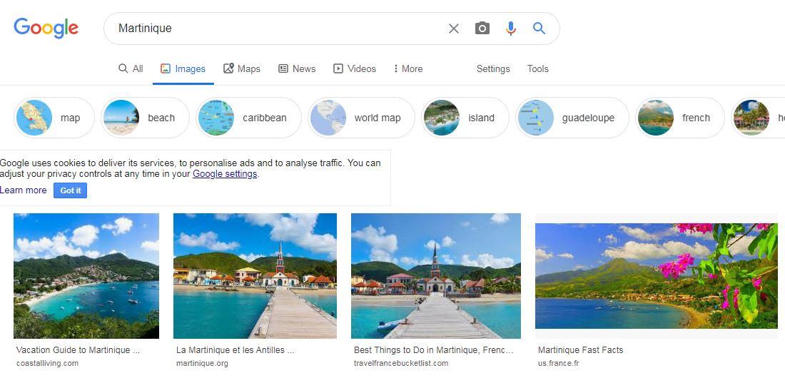 Google US n'associe plus le drapeau aux quatre serpents à la Martinique