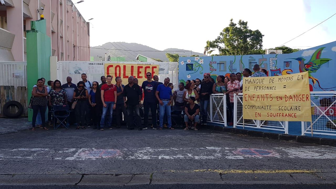 Mouvement de grève au collège de Rivière Pilote