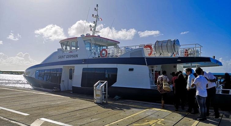 Une nouvelle navette maritime fait la liaison avec la Désirade