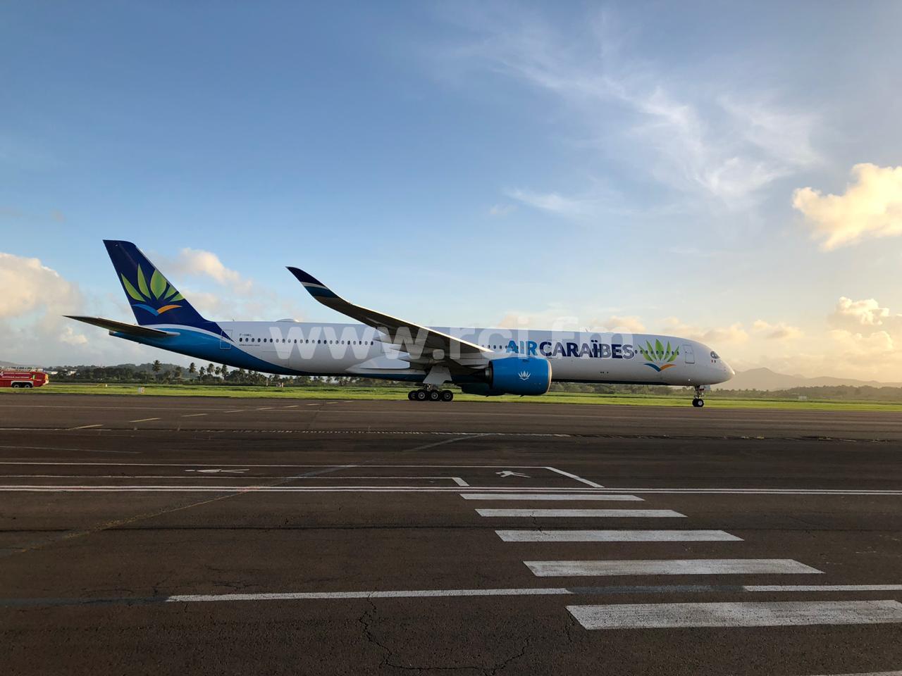 Le tout premier Airbus 350-1000 d'Air Caraïbes arrivé hier en Martinique