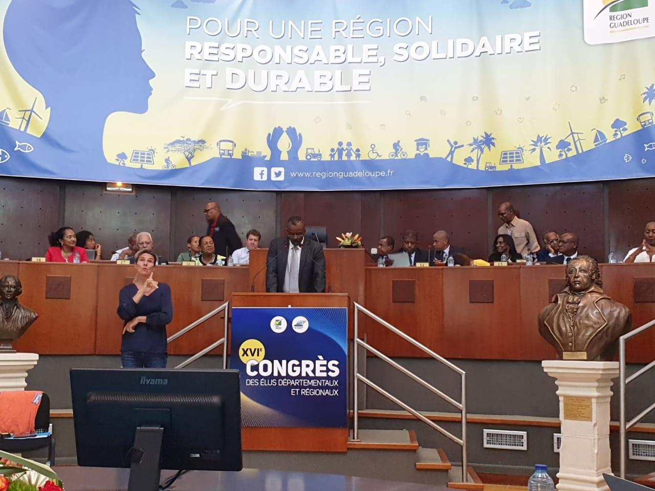 Congrès des élus : Ary Chalus et Josette Borel-Lincertin ont pris la parole