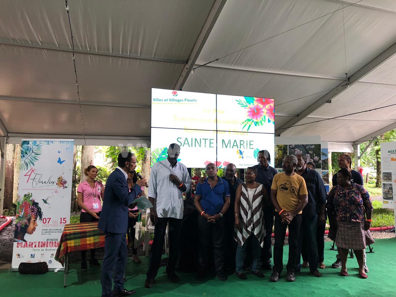 Sainte-Marie élue pour la 3e année consécutive ville la plus fleurie de Martinique