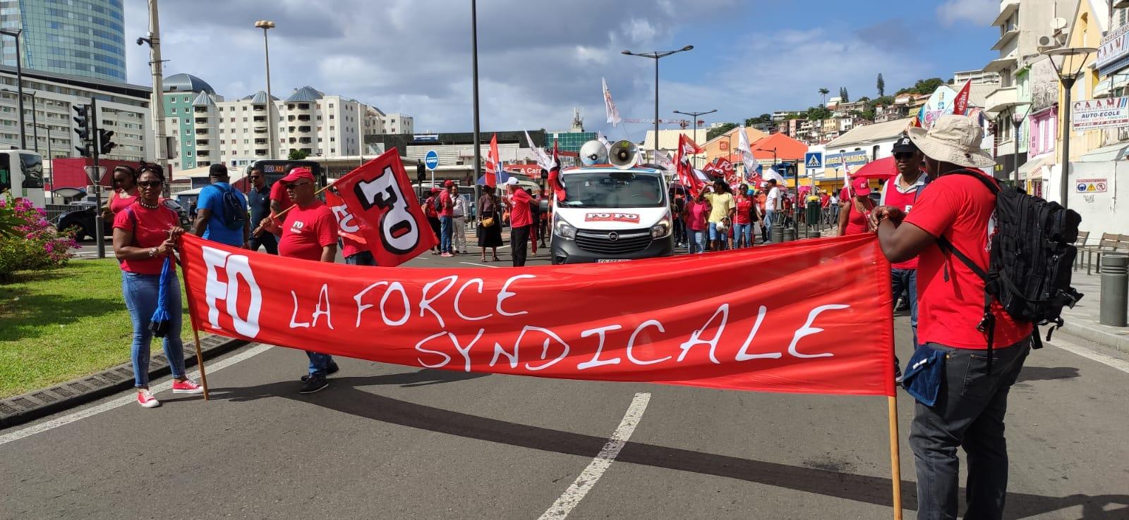 La police dénombre 1700 manifestants à Fort-de-France