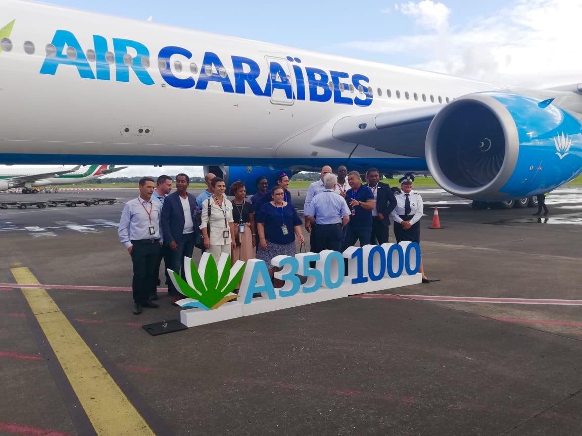 Le premier A350-1000 d'Air Caraïbes s'est posé en Guadeloupe