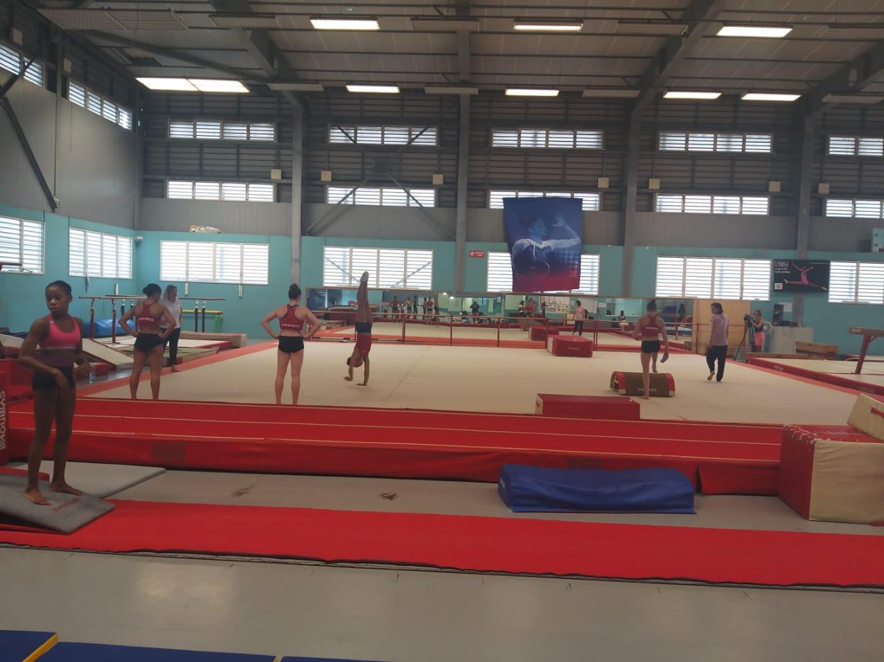 L'équipe de France de Gymnastique artistique féminine en stage en Martinique