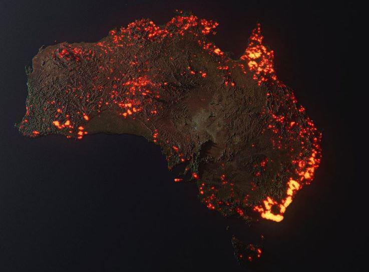 Ce que montre vraiment cette image des feux en Australie