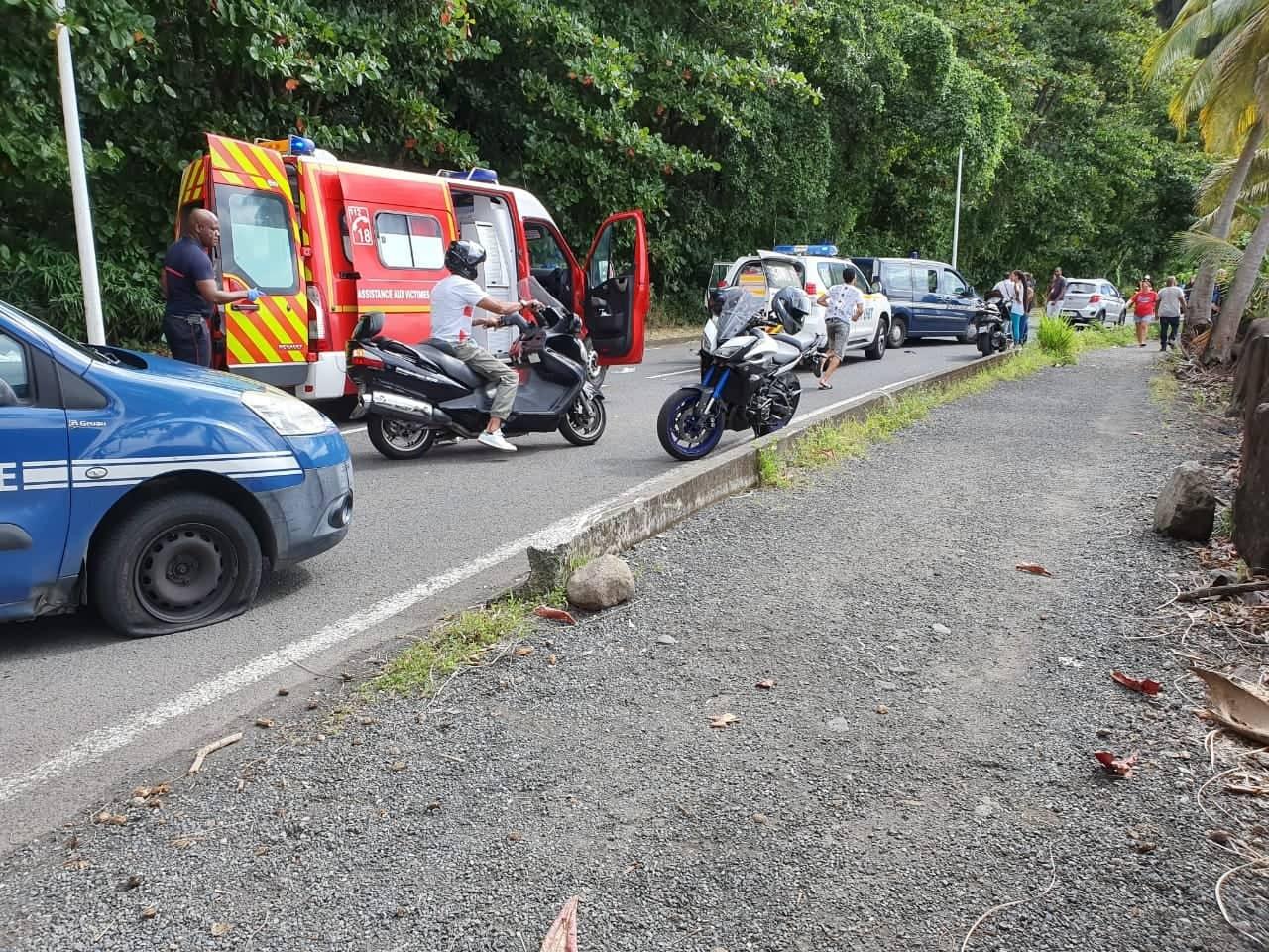 Grave accident à Gourbeyre  : un mort et plusieurs blessés