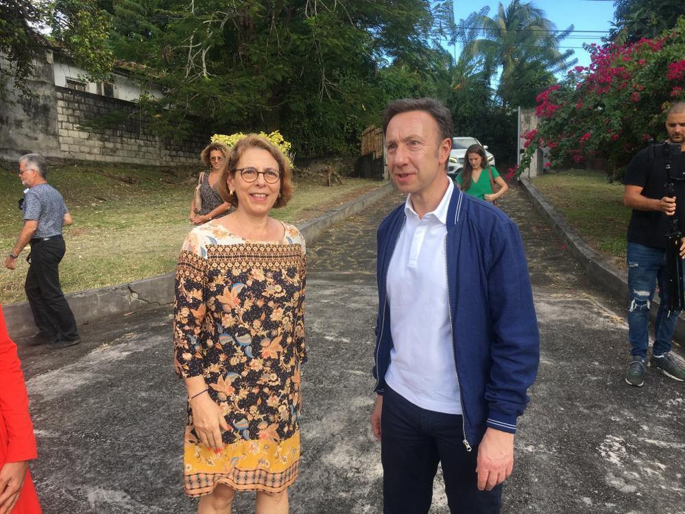 """Stéphane Bern en Martinique dans le cadre de l'émission """"le village préféré des Français"""""""