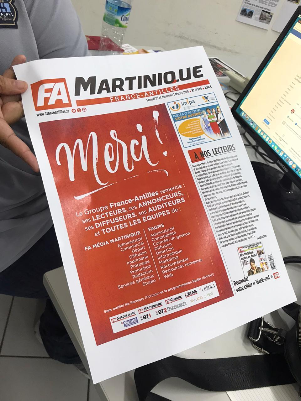 France Antilles : le dernier numéro