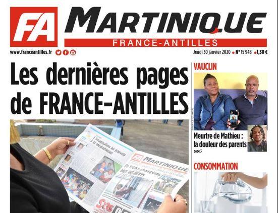 France-Antilles publie peut-être ses dernières pages